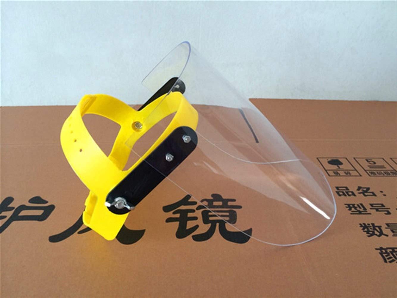Haozhuokun Máscara para el Hombre Mujer niños Protectora contra la luz UV máscara de Sombra y Transparente de plexiglás Gafas Protectoras (Color : Transparent)