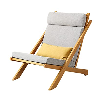 WSSF  Foldable Relax Lounge Chair Bentwood Adjustable Recliners Washable  Home Office Study Room Sofa Lazy
