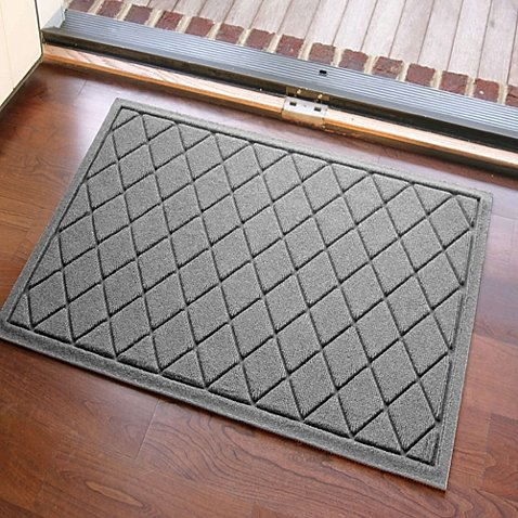 3. Weather Guard™ 23-Inch x 35-Inch Argyle Door Mat in Medium Grey