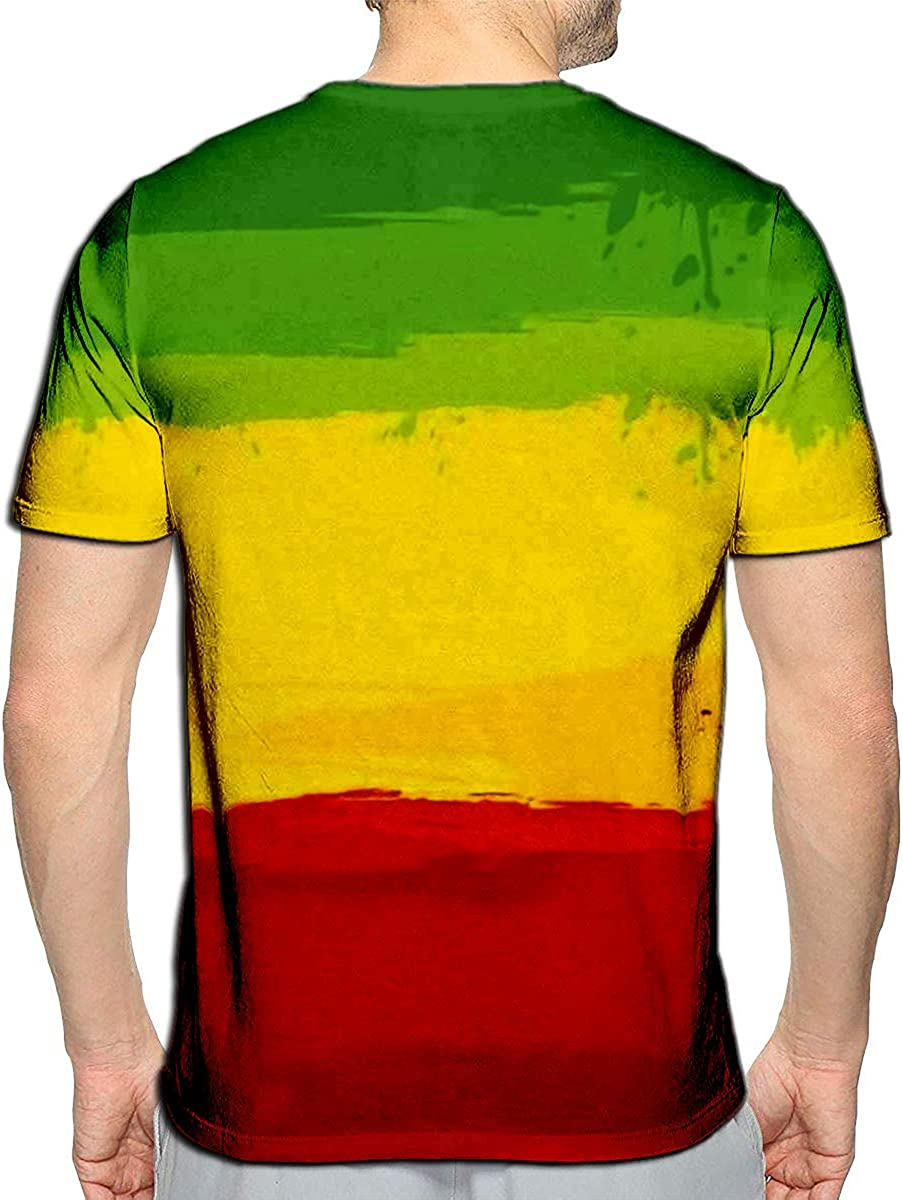 YILINGER T-Shirt 3D Printed Grunge with Flag of Ethiopia Casual Tees