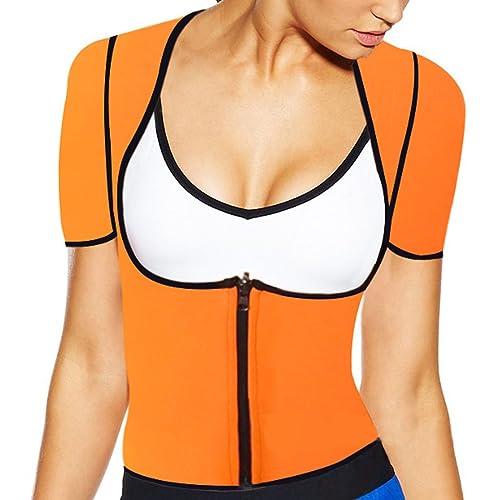 Partiss - Camiseta moldeadora - para mujer naranja naranja