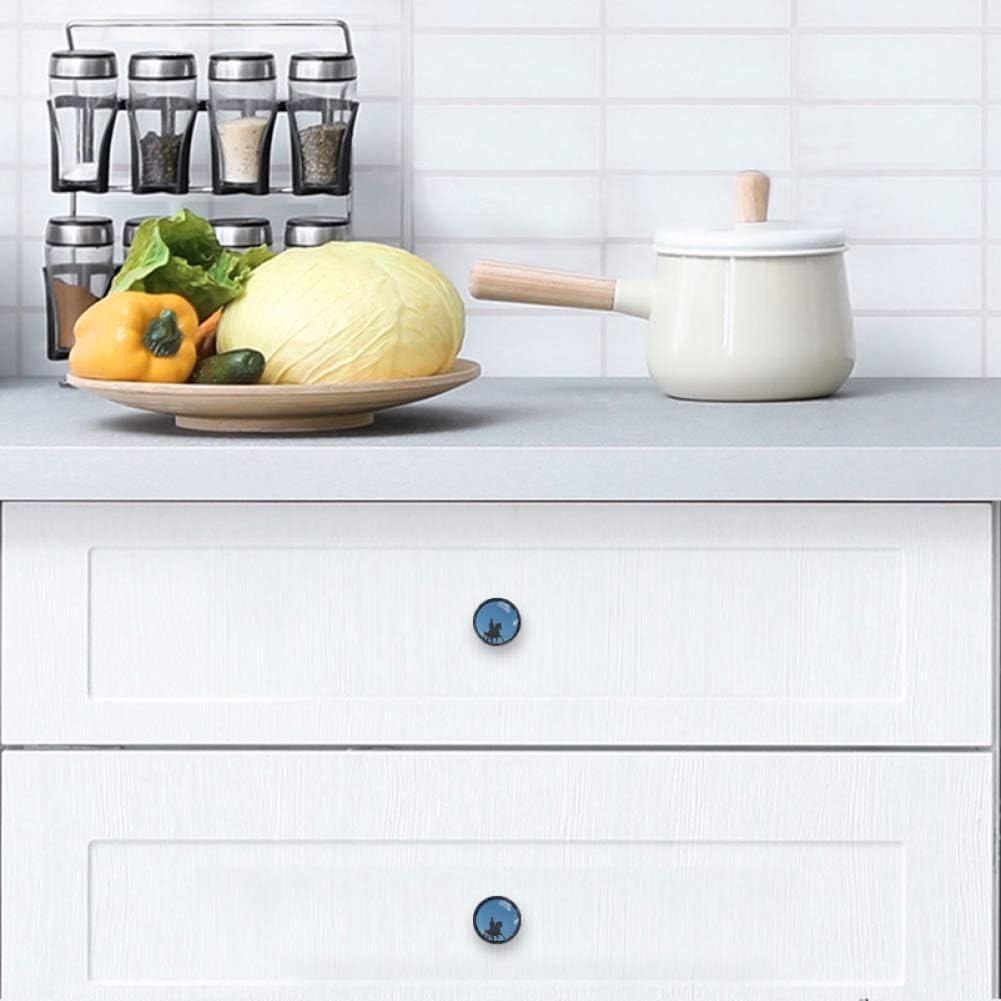 Licorne 4 Boutons De Cabinet Anti Rayures Et Poign/ées Tiroir Pour La Maison,C/œurs,1.38/×1.10in