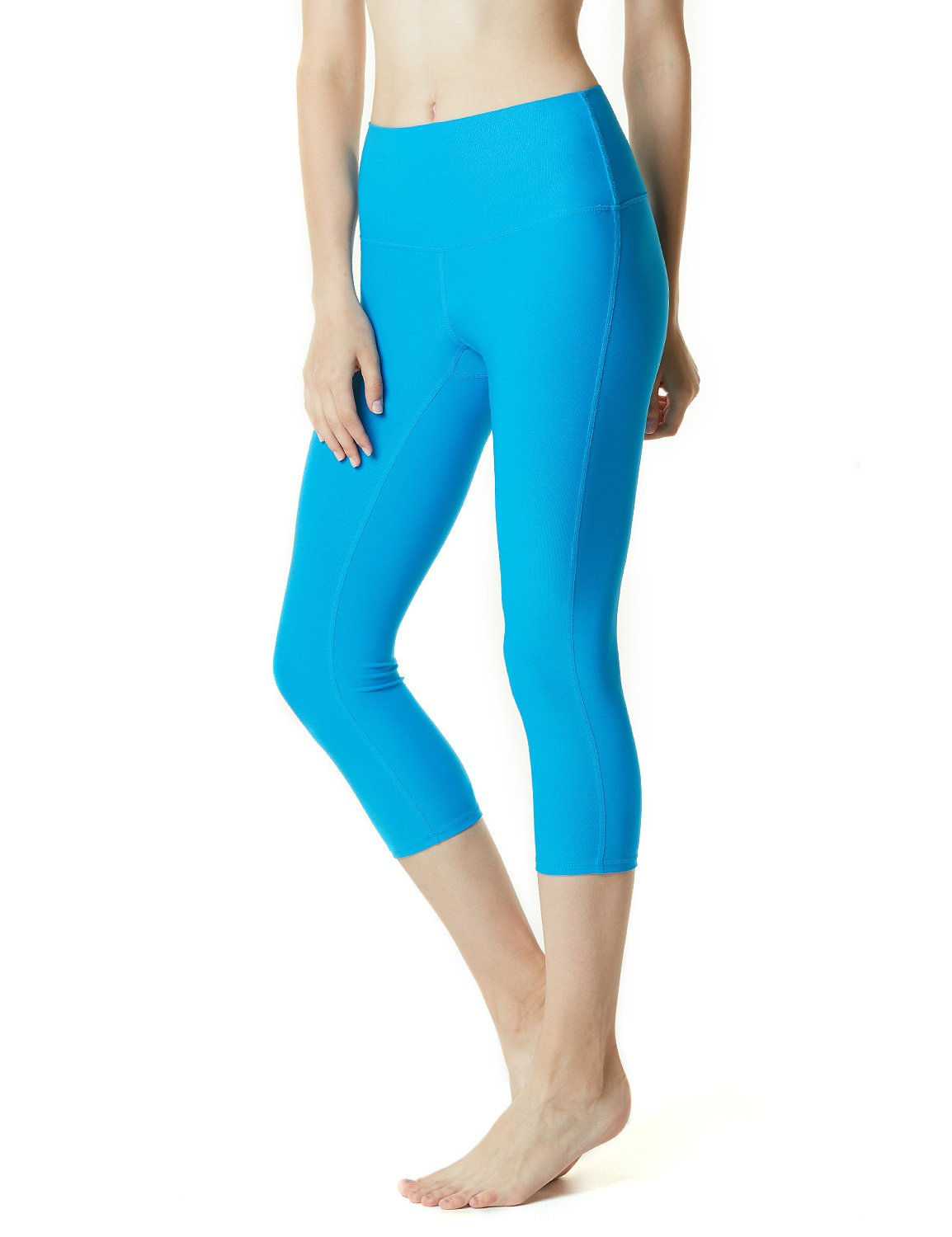 Tesla TM-FYP32-RYB_2X-Large Yoga 21'' Capri High-Waist Tummy Control Pants w Pocket FYP32