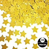 Gold Star Confetti, Seasonsky 300 PCS Star Confetti Cupcake Toppers for Baby Shower, Gender Reveal, Birthday Party, Wedding Party Supplies, Festival Decorations (Gold, Star)