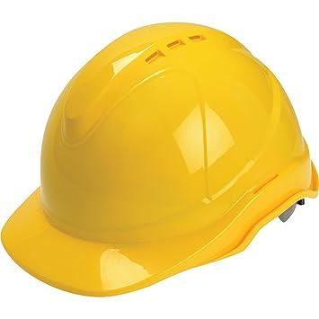 Scan PPESHSUPY - Casco de seguridad con ventilación, color amarillo