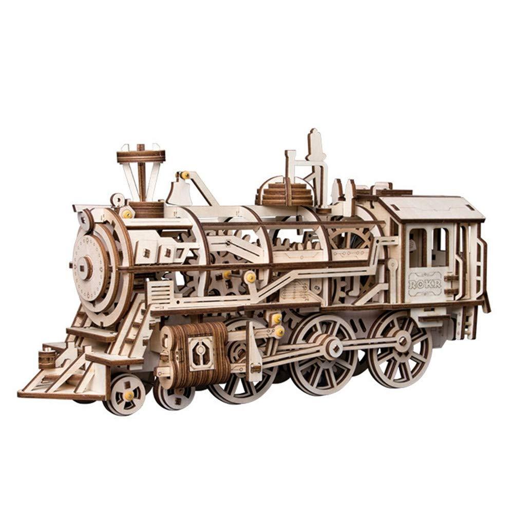 LSQR DIY 3D Movable Locomotive Modell Von Uhrwerk Frühling Puzzle Spiel Geschenk Für Kinder Kits Kinder Teens Adult Toy Puzzle Hobbies Geschenke