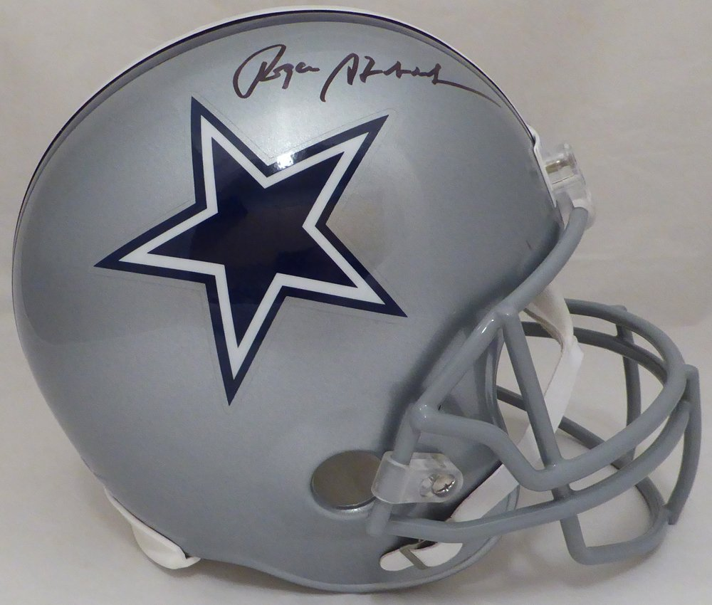 Roger Staubach Autographed Dallas Cowboys Full Size Helmet Beckett BAS
