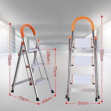 3 Pasos Aluminio Aleación Escalera,antideslizante Peldaños Plegables Ligero Escaleras De Mano Portátil Escalera Para El Hogar Cocina Oficina Almacén-a: Amazon.es: Bricolaje y herramientas