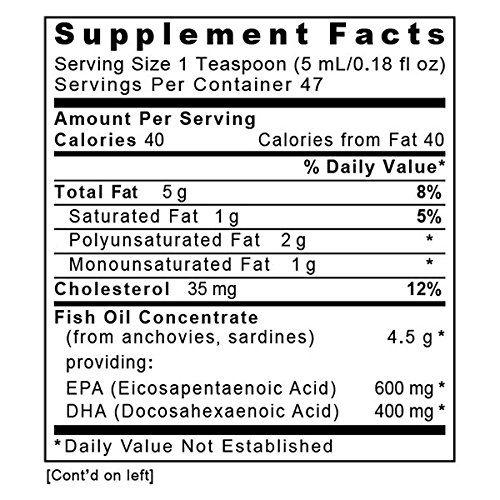 EPA/DHA Marine Liquid, 8 fl oz - Premier Fish Oil Concentrate without molecular distillation. Promotes Heart and Joint Health with a Refreshing Lemon Flavor by Premier Research Labs (Image #2)