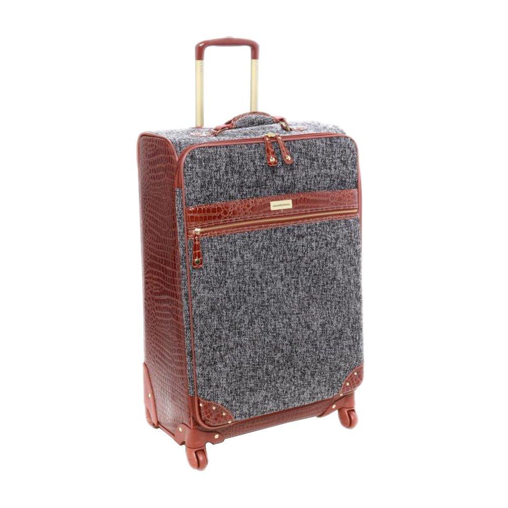 Samantha Brown Tweed 28'' Upright Spinner Luggage Set - Black