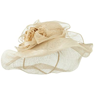 f6644eb9067 Jeanne Simmons Crownless Folded Brim Sinamay Hat - Natural OSFM at ...