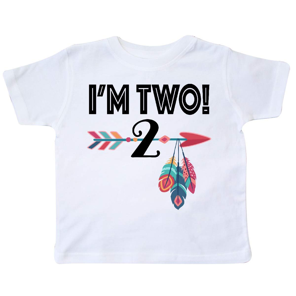 inktastic Big Sister Feather Toddler T-Shirt Arrow Flowers