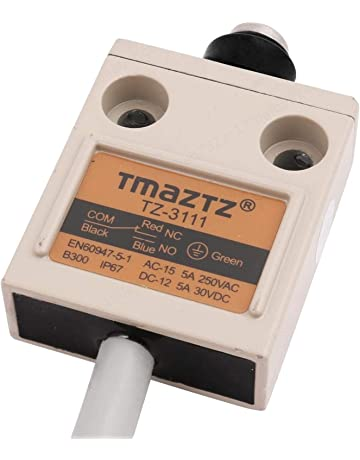 PRINDIY AC 220 380V Drucktastenschalter EIN//Aus wasserdichte Drucktastenschalter f/ür Bohrmotor Maschine Schwarz