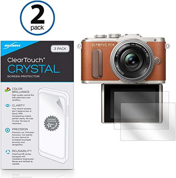 upscreen Scratch Shield Clear Screen Protector for Olympus Pen Lite E-PL5 Multitouch Optimized High Transparency Strong Scratch Protection
