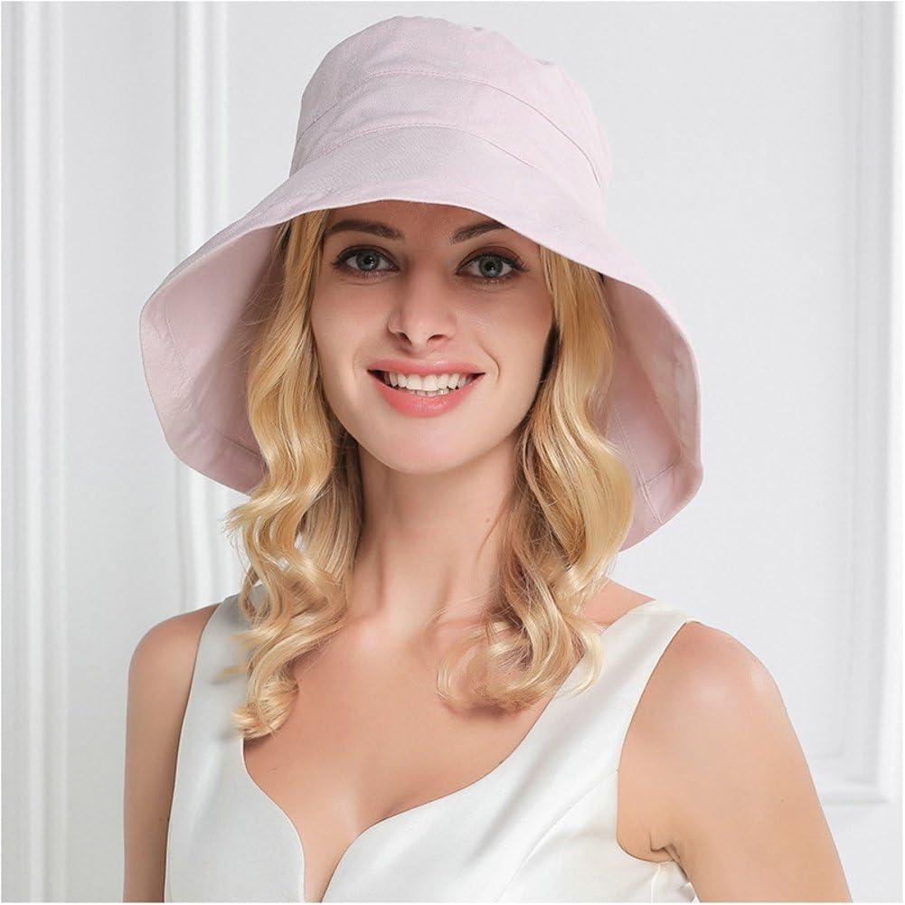 Elezay Women/'s Cloche Round Hat Packable Vintage Bucket Hat Flower Roll up UPF 50+
