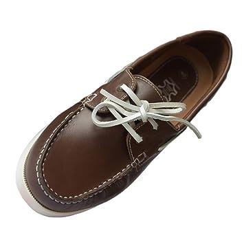 Beverly Originals de Piel para Hombre Zapatillas Especiales para Hombre Casual Marinero marrón Talla:42: Amazon.es: Deportes y aire libre