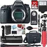 Canon EOS 6D 20.2 MP Digital SLR Camera Body + Deluxe Power Battery Grip & Accessory Bundle