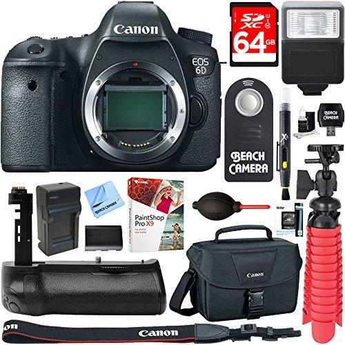 Canon EOS 6D 20.2 MP Digital SLR Camera Body + Deluxe Power