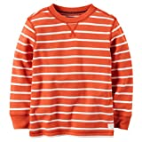 Carter's Little Boys' Striped Thermal Shirt (5, Orange)