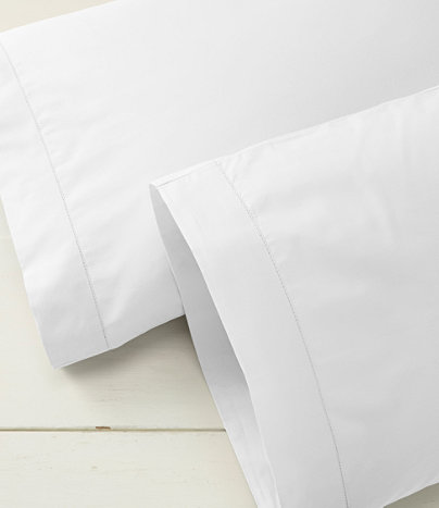 280-Thread-Count Pima Cotton Percale Pillowcases, Set of Two | Free Shipping at L.L.Bean