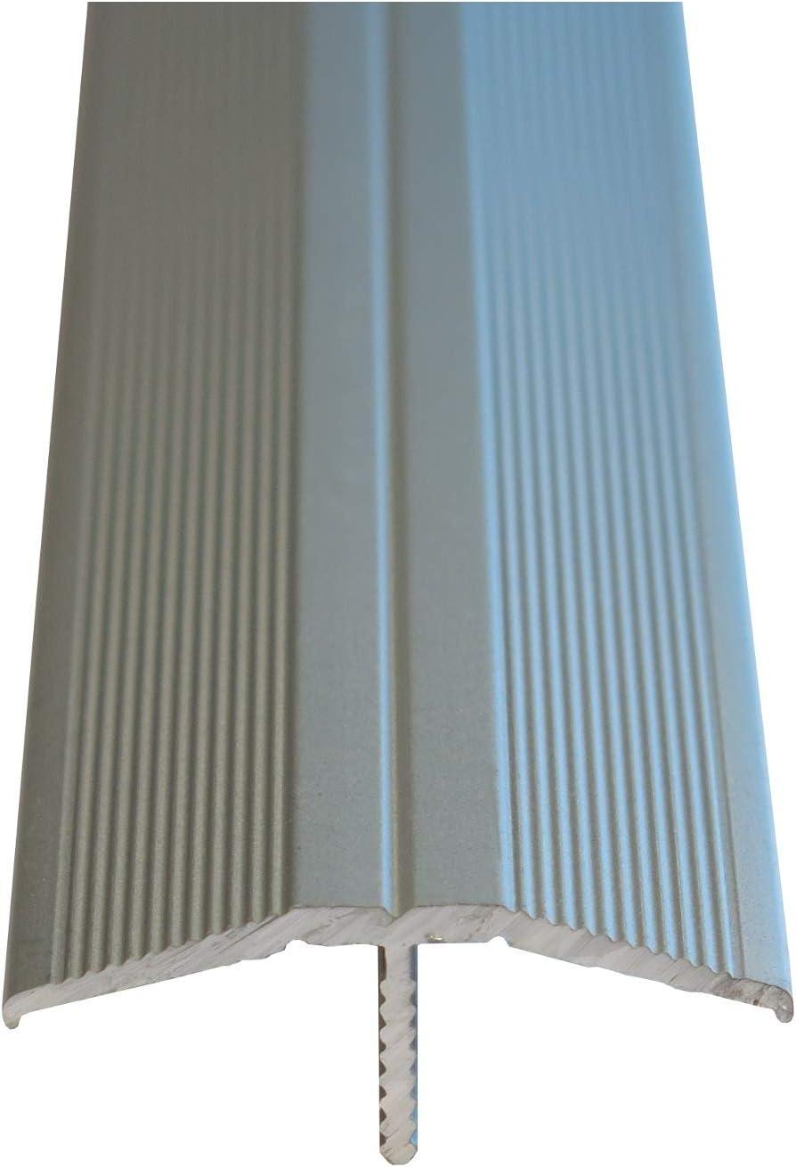 Silber Praktikus 5102228 33x12mm /Übergangsprofil Clip-System