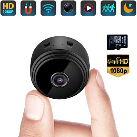 OWSOO 1080P HD Small Hidden WIFI Camera for Home Security with Night Vision and Motion Detection,Compact Indoor//Outdoor Video Recorder Mini Spy Cameras