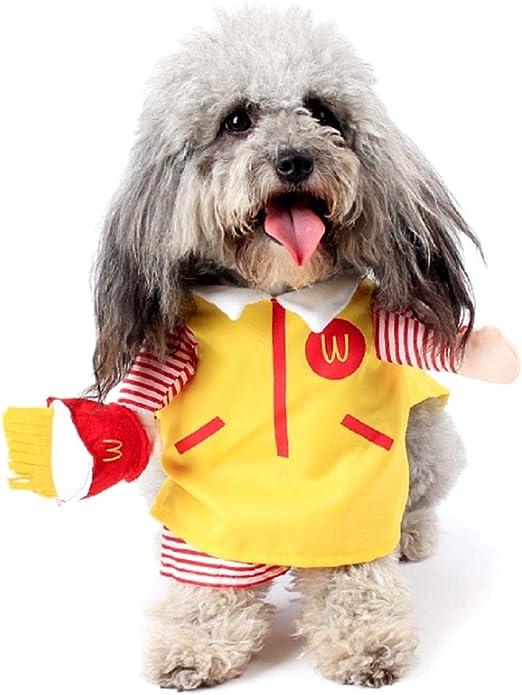 KIRALOVE Disfraz - Comida rápida - Mac donalds - Vendedor - Perro ...