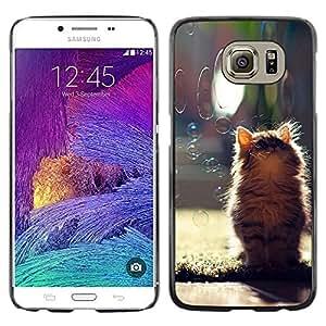 Stuss Case / Funda Carcasa protectora - GATITO LINDO Y BURBUJAS - Samsung Galaxy S6