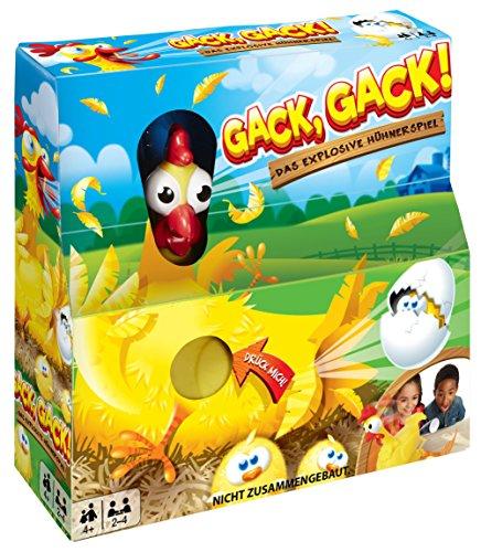 Mattel Games FRL48 - Gack Gack lustiges Hühnerspiel und Kinderspiel geeignet für 2 - 4 Spieler, Kinderspiele ab 5 Jahren 2