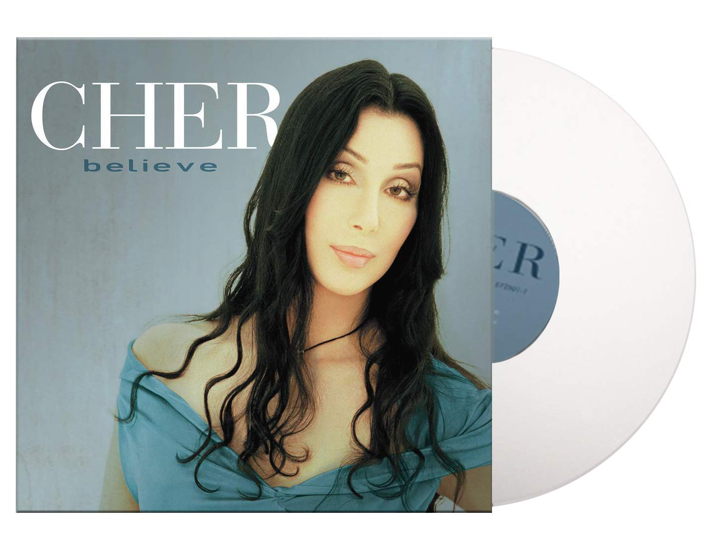 Cher - Believe Exclusive Edition White Vinyl LP [Condition- VG+/NM] by Barnes Noble Consign