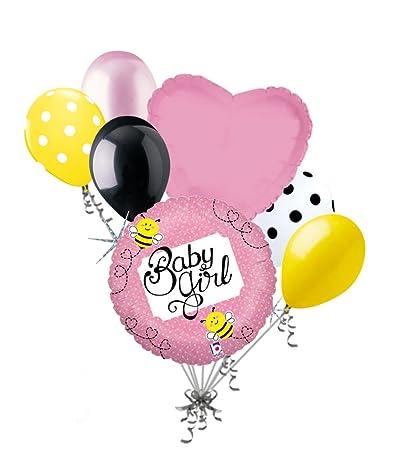Amazon Com 7 Pc Baby Girl Buzzy Bee Balloon Bouquet Party