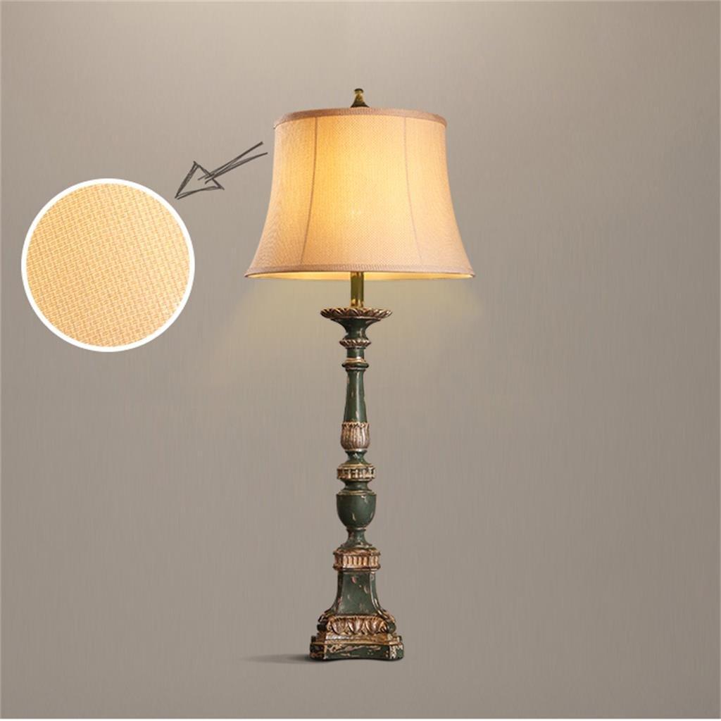 HYNH Europäische Gerichtshof für retro amerikanisches Restaurant Lampe Schlafzimmer Tuch pastoral gemütliches Wohnzimmer Tischlampe Kinder Tischlampe