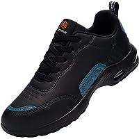 DYKHMILY Zapatillas de Seguridad Mujer Ligero, Air Cushion Zapatos de Trabajo con Punta de Acero Comodo Respirable…