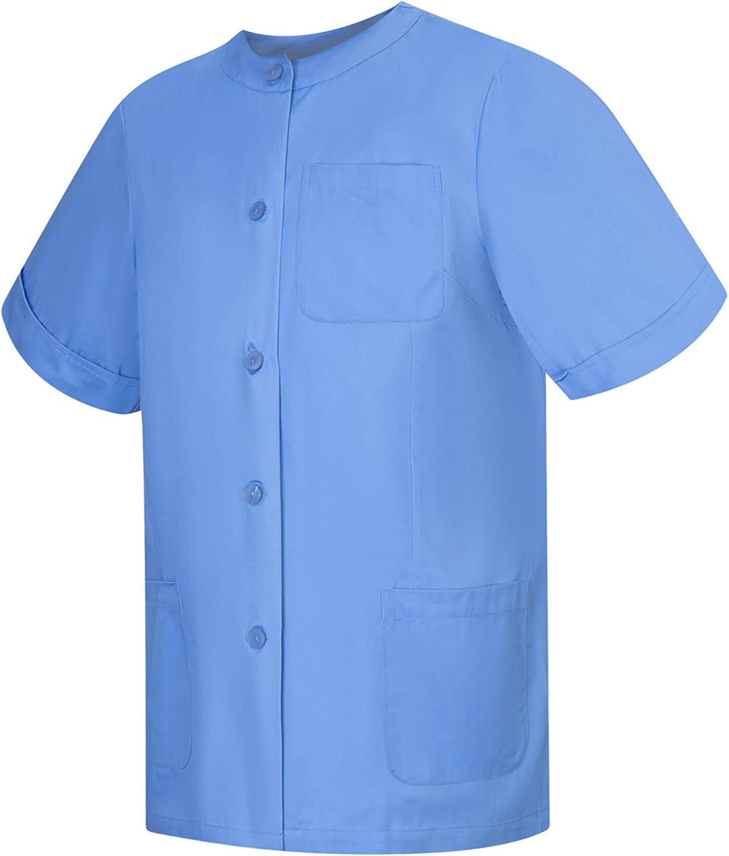 MISEMIYA - Camisa Camisetas Mujer Medica Mangas Cortas Uniforme Laboral Sanitarios Hospital Limpieza Ref.707