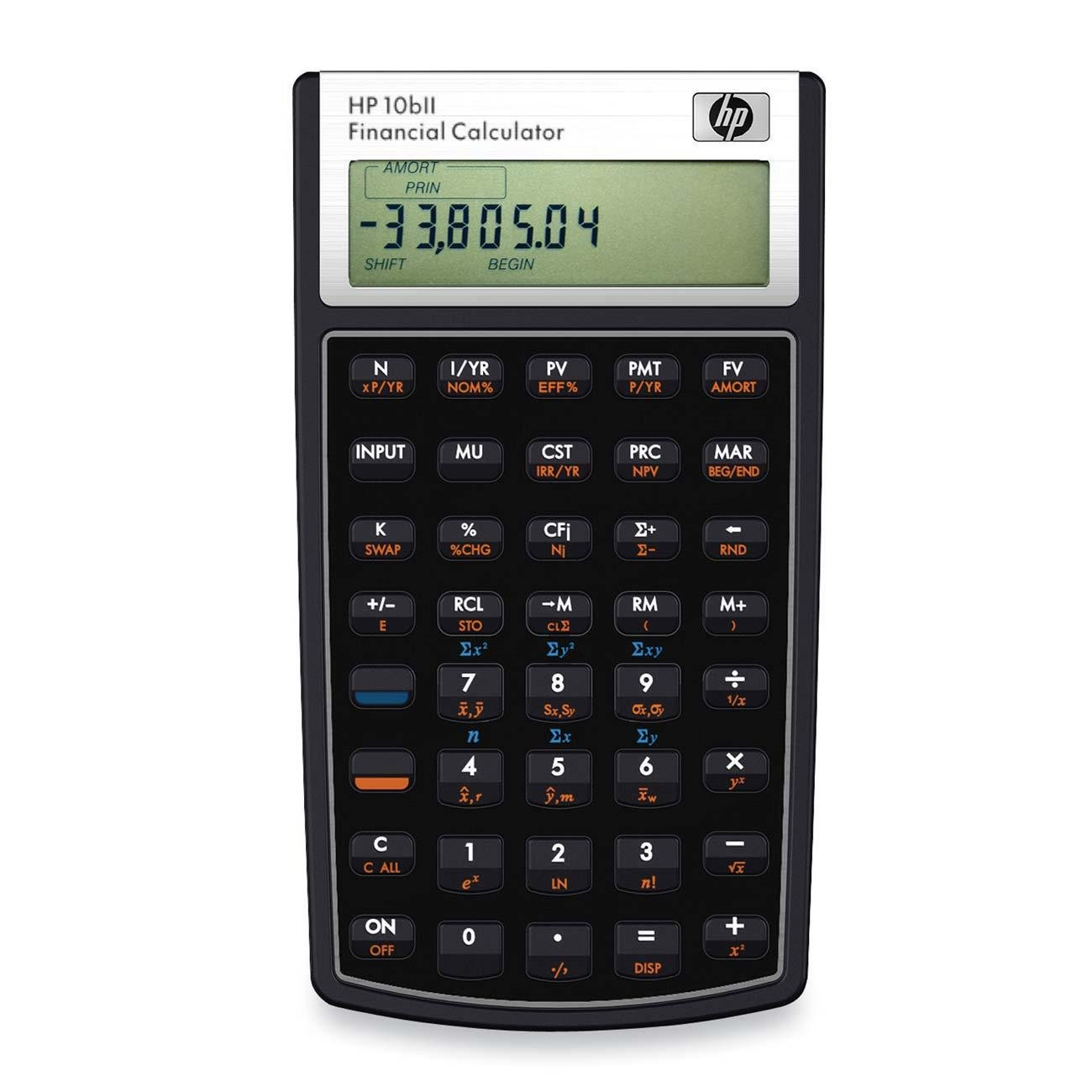 HP 10bII Financial Calculator, 12-Digit LCD