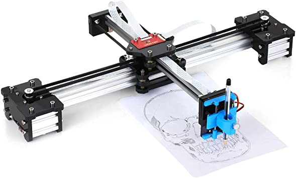 Escritorio DIY Montado XY Plotter Pluma Dibujo Robot Máquina de Dibujo de Escritura A Mano Kit de Robot 100-240V: Amazon.es: Bricolaje y herramientas