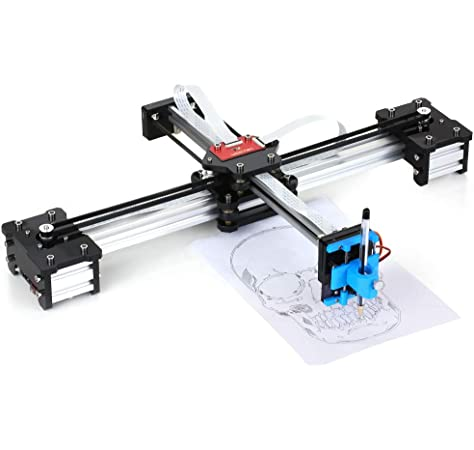 Plotter XY, 100-240VA 2 ejes DIY CNC XY Plotter Pluma Dibujo Máquina de firma Robot Laboratorio ensamblado XY Plotter Dibujo Robot Kit(Enchufe de la UE): Amazon.es: Industria, empresas y ciencia