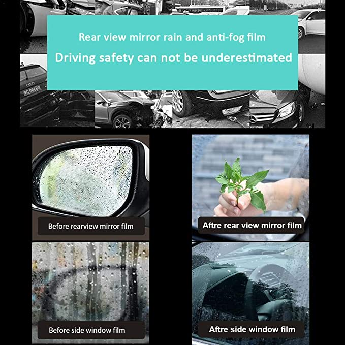 Minimew Car Rearview Rain-Proof Film A Pair Mirror Waterproof and Anti-Fog Rain-Proof Film Side Window Glass Film A Variety of Size Specifications