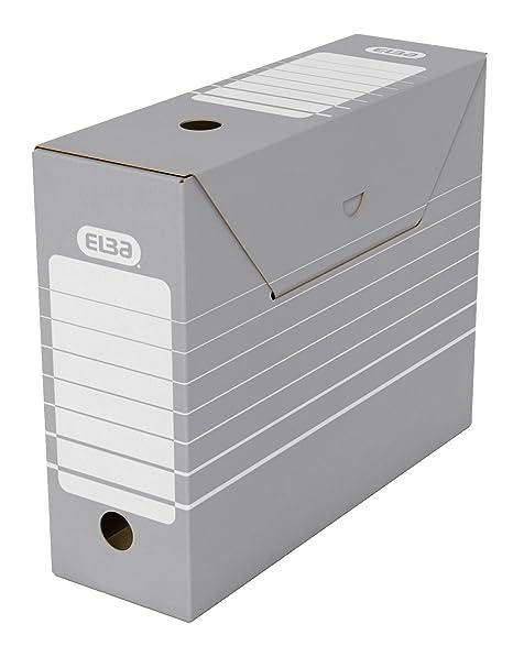 Elba CF50 Cartón Gris, Blanco archivador organizador - Organizador de almacenaje (Cartón, Gris