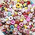 20 Pieces Mixed lot Food Resin Flatback Kawaii Cabochons Decoden Pieces