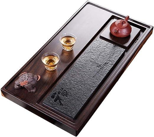 Juegos de té Bandeja de te Pieza Entera de Mesa de té de Madera Maciza para