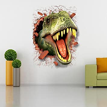 Dinosaur Wall Decal Stickers Full Color 3D Dinosaur T-Rex Wall Art Kids WSD245