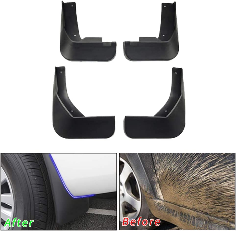 Muchkey no dril car mud Flaps for Volkswagen VW Passat 2011 2012 2013 2014 2015 Sedan Fender Flare Splash Guard 4pcs//Set