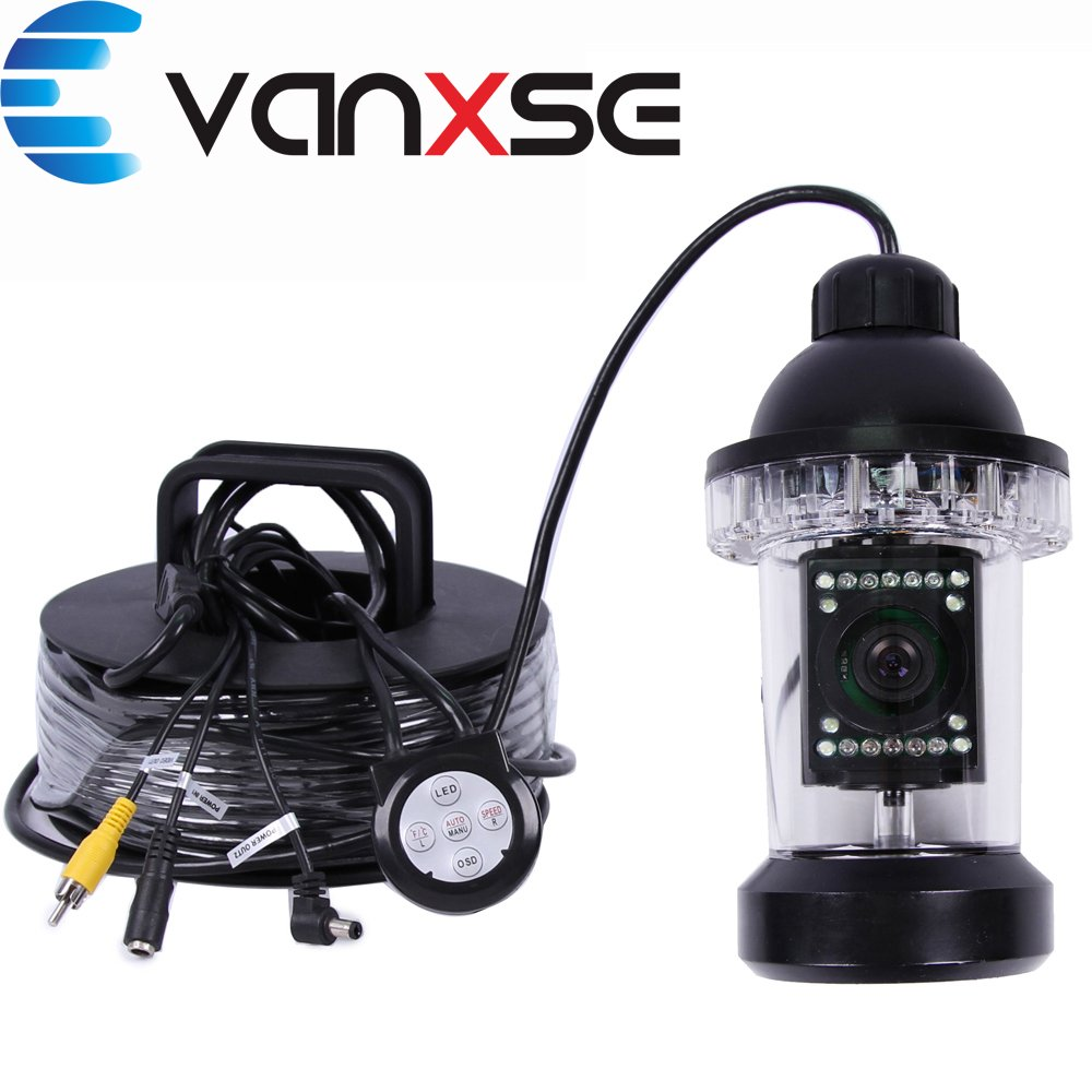 Vanxse Underwater Fish Camera Sony CCD 1000tvl Hd Underwater Video Camera 100m(330ft) Cable Fish Finder 360 Degree View Fish finder video camera