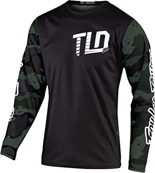 Troy Lee Designs GP Camo Mens Off-Road Motorcycle Jersey White//Black//Small