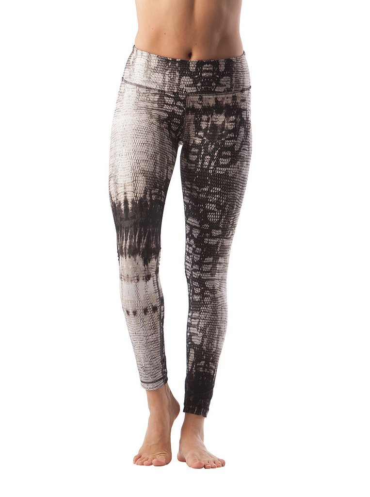 90 Degree By Reflex - Performance Activewear - Printed Yoga Leggings - Reptile Brown - Small