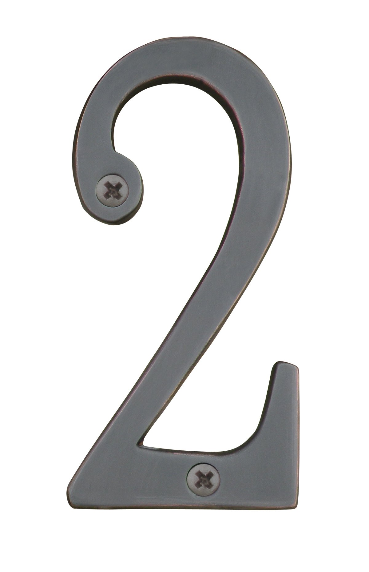 Knoxx Hardware BBB4N602 Oil Rubbed Bronze Address Numbers Traditional 4'' Numeral 2