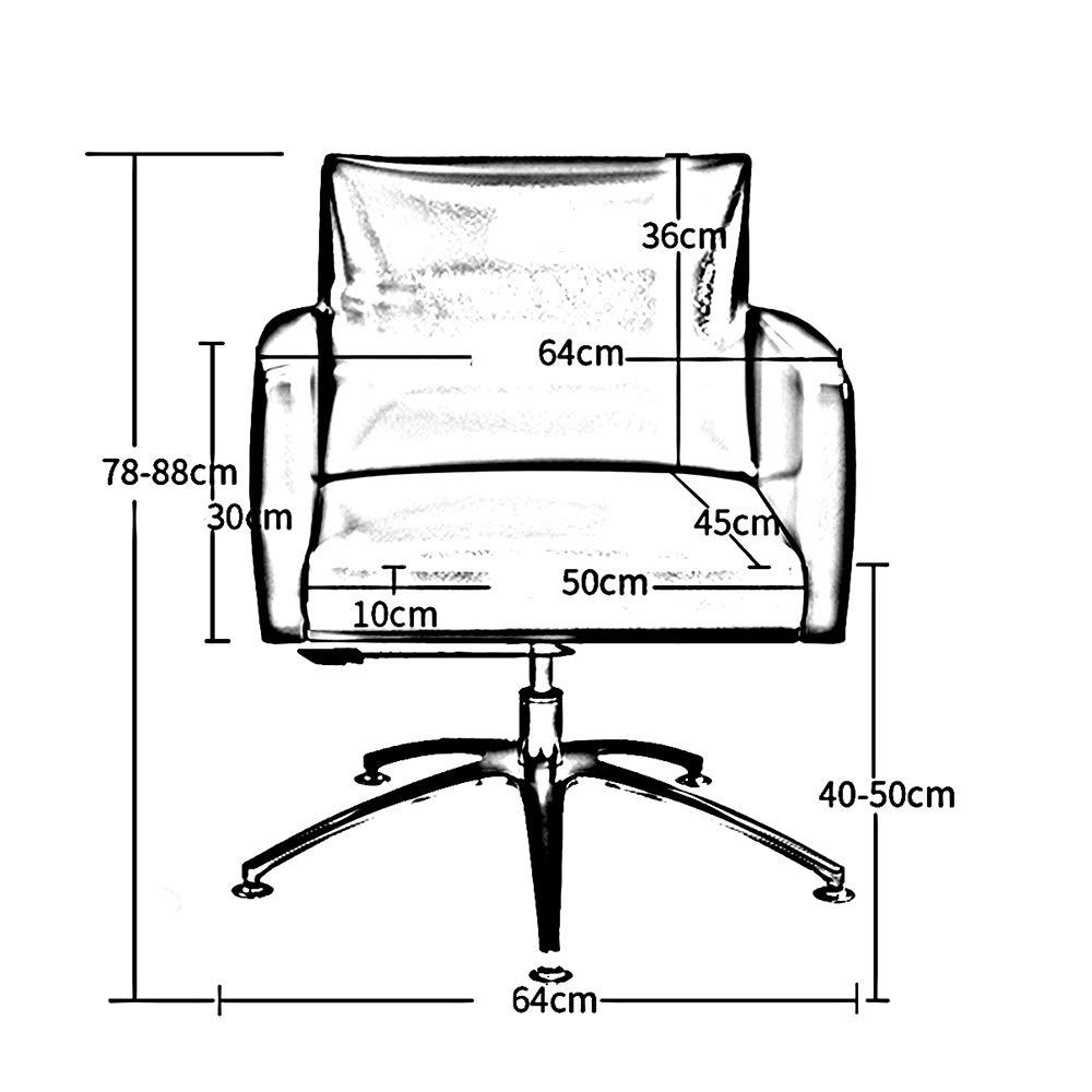 ZZHF Svängbar stol, amerikansk dator stol fritid kontorsstol hem soffa svängbar stol lyftstolar, ryggstöd stol (färg: Brun Brun