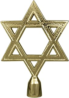 "product image for Allied Flag Star of David Flag Pole Ornament w/Ferrule - 6 3/4"" - Gold Finish"