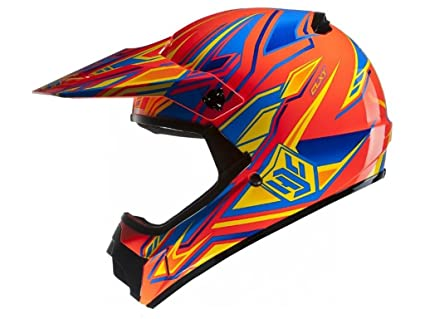 Amazon.es: Casco para motos de cross y enduro para niños, de policarbonato. M (49/50) MC-6
